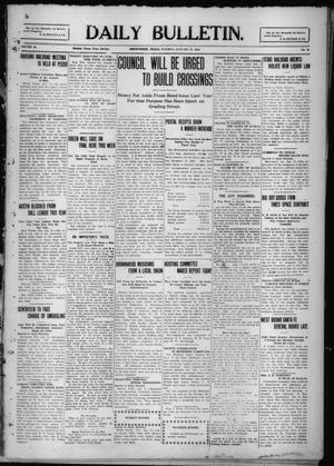 Primary view of object titled 'Daily Bulletin. (Brownwood, Tex.), Vol. 10, No. 73, Ed. 1 Tuesday, January 11, 1910'.