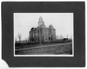 Primary view of object titled '[Third Courthouse in Childress, Texas Completed 1892]'.