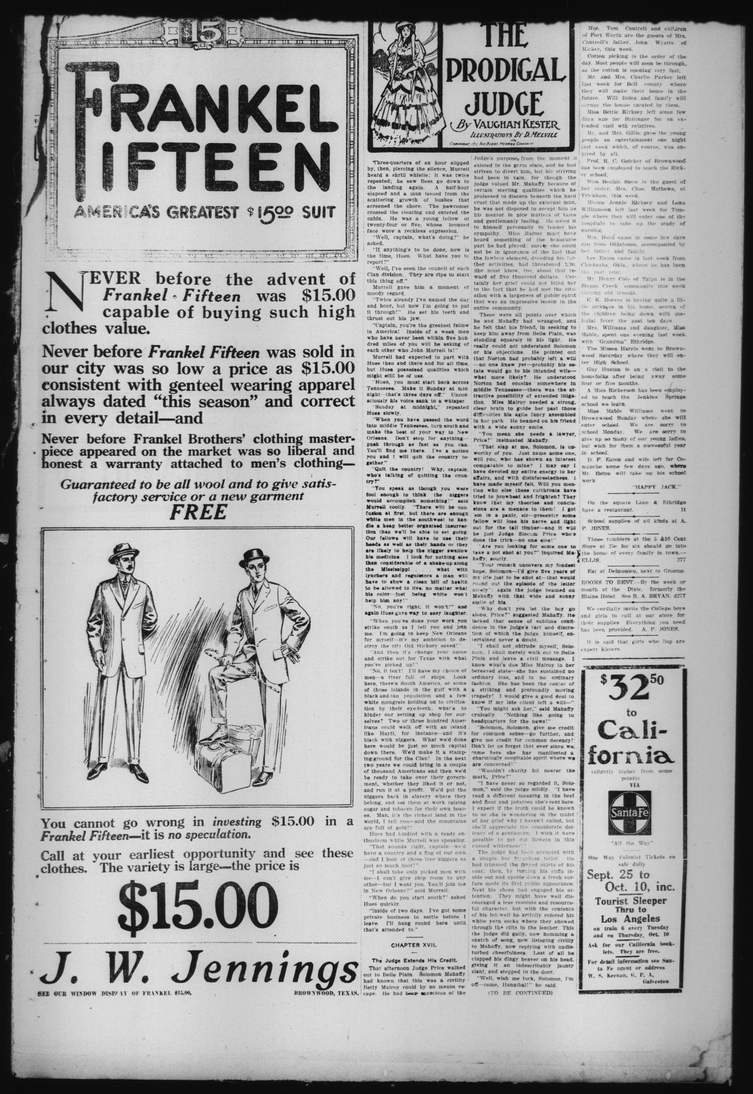 Daily Bulletin. (Brownwood, Tex.), Vol. 12, No. 276, Ed. 1 Thursday, September 12, 1912                                                                                                      [Sequence #]: 2 of 6