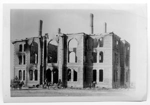 Primary view of object titled '[Second Childress Courthouse Burnt within Less Than One Year]'.