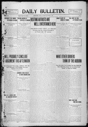 Primary view of object titled 'Daily Bulletin. (Brownwood, Tex.), Vol. 10, No. 42, Ed. 1 Saturday, December 4, 1909'.