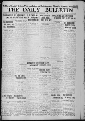 Primary view of object titled 'The Daily Bulletin (Brownwood, Tex.), Vol. 13, No. 136, Ed. 1 Wednesday, April 8, 1914'.