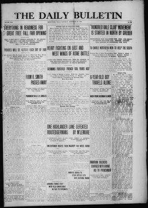 Primary view of object titled 'The Daily Bulletin (Brownwood, Tex.), Vol. 13, No. 283, Ed. 1 Saturday, September 26, 1914'.