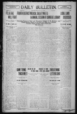 Primary view of object titled 'Daily Bulletin. (Brownwood, Tex.), Vol. 12, No. 310, Ed. 1 Tuesday, October 22, 1912'.