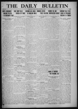 Primary view of object titled 'The Daily Bulletin (Brownwood, Tex.), Vol. 13, No. 46, Ed. 1 Tuesday, December 23, 1913'.