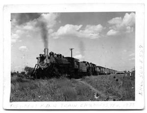 Primary view of object titled '[The Train That Brought FDR to Childress, Texas]'.