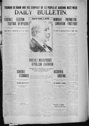 Primary view of object titled 'Daily Bulletin. (Brownwood, Tex.), Vol. 12, No. 208, Ed. 1 Saturday, June 22, 1912'.