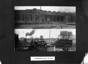 Primary view of object titled '[Fort Worth & Denver City Roundhouse Built at Childress Shop Yards in 1910]'.