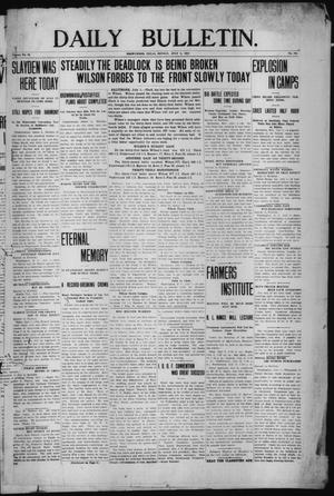 Primary view of object titled 'Daily Bulletin. (Brownwood, Tex.), Vol. 12, No. 215, Ed. 1 Monday, July 1, 1912'.