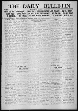 Primary view of object titled 'The Daily Bulletin (Brownwood, Tex.), Vol. 13, No. 70, Ed. 1 Wednesday, January 21, 1914'.