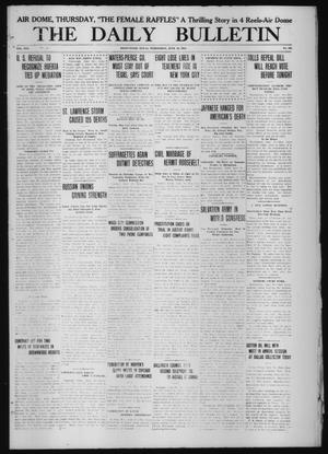 Primary view of object titled 'The Daily Bulletin (Brownwood, Tex.), Vol. 13, No. 190, Ed. 1 Wednesday, June 10, 1914'.