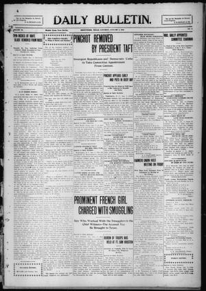 Primary view of object titled 'Daily Bulletin. (Brownwood, Tex.), Vol. 10, No. 71, Ed. 1 Saturday, January 8, 1910'.