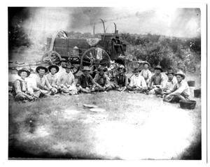 Primary view of object titled '[Cowboys of the OX Ranch]'.