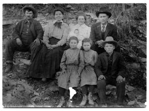Primary view of object titled '[Shoenail Cook, Bill Stone and Family]'.