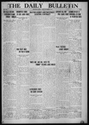 Primary view of object titled 'The Daily Bulletin (Brownwood, Tex.), Vol. 13, No. 43, Ed. 1 Friday, December 19, 1913'.