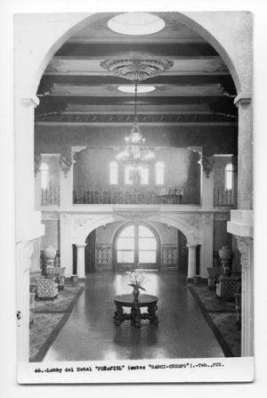 Postcard of Hotel Peñafiel's lobby