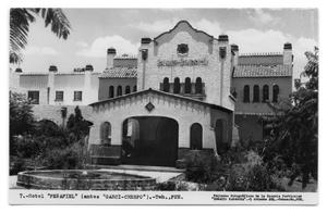 Primary view of object titled '[Postcard of Hotel Garcia Crespo]'.