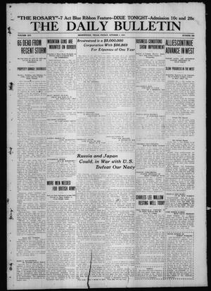 Primary view of object titled 'The Daily Bulletin (Brownwood, Tex.), Vol. 14, No. 299, Ed. 1 Friday, October 1, 1915'.