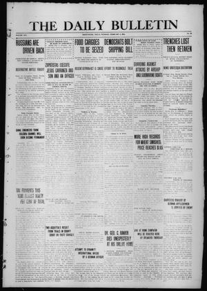 Primary view of object titled 'The Daily Bulletin (Brownwood, Tex.), Vol. 14, No. 93, Ed. 1 Tuesday, February 2, 1915'.