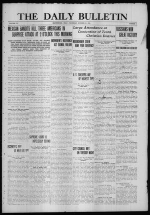 Primary view of object titled 'The Daily Bulletin (Brownwood, Tex.), Vol. 15, No. 6, Ed. 1 Thursday, October 21, 1915'.