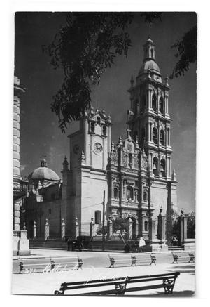 Postcard of a cathedral in Monterey