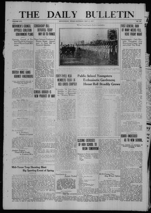 Primary view of object titled 'The Daily Bulletin (Brownwood, Tex.), Vol. 16, No. 178, Ed. 1 Saturday, May 12, 1917'.