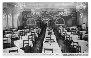 Primary view of object titled 'Postcard of a hotel's dining room'.