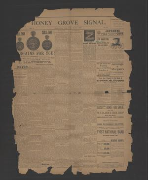 Primary view of object titled 'Honey Grove Signal. (Honey Grove, Tex.), Vol. 5, No. 36, Ed. 1 Friday, March 6, 1896'.
