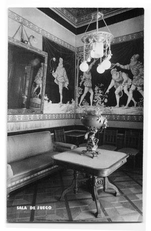 Primary view of object titled 'Postcard of a game room'.