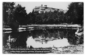Primary view of object titled 'Postcard of Chapultepec Castle and National Museum of History'.