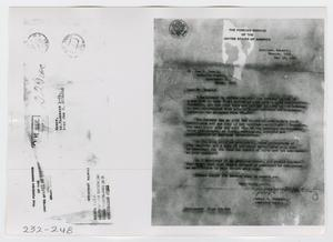 Primary view of object titled '[Document, Photograph #30]'.