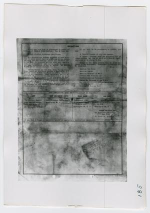Primary view of object titled '[Application for Review of Discharge, Photograph #2]'.