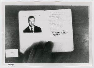 Primary view of object titled '[Photographs of Lee Harvey Oswald's Passport]'.