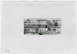 Primary view of object titled '[Photograph of Receipt for Remittance]'.