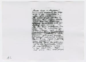 Primary view of object titled '[Photographs of Letter]'.