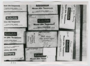 Primary view of object titled '[Photographs of Kodaslide Boxes]'.