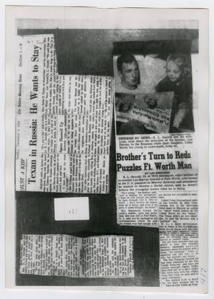 Primary view of object titled '[Newspaper Clippings, Photograph #5]'.