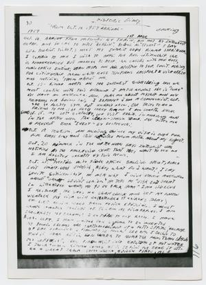Primary view of object titled '[Oswald's Diary, Photograph #10]'.