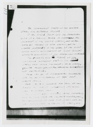 [Photographs of Oswald's Notebook]