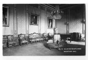 Primary view of object titled 'Postcard of a reception hall'.