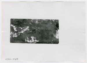 Primary view of object titled '[Document, Photograph #3]'.