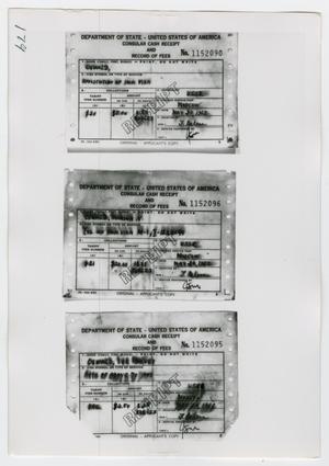 [Photographs of Cash Receipts]