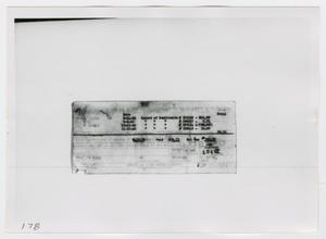Primary view of object titled '[Back of Receipt for Remittance]'.