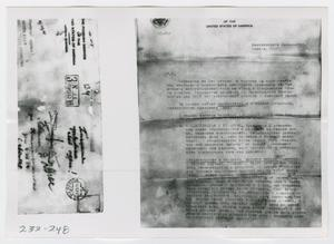 Primary view of object titled '[Document, Photograph #19]'.