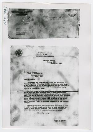 Primary view of object titled '[Document, Photograph #35]'.