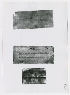 Primary view of object titled '[Pay Stubs, Photograph #3]'.