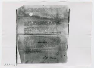 Primary view of object titled '[Document, Photograph #21]'.