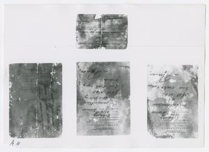 Primary view of object titled '[Notes, Photograph #2]'.