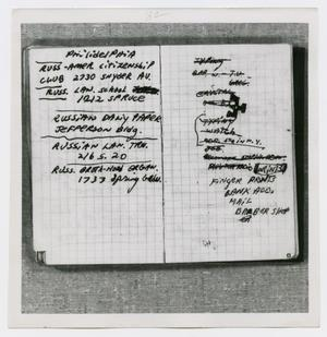 Primary view of object titled '[Pages in Oswald's Book, Photograph #39]'.