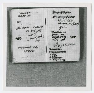 Primary view of object titled '[Pages in Oswald's Book, Photograph #9]'.